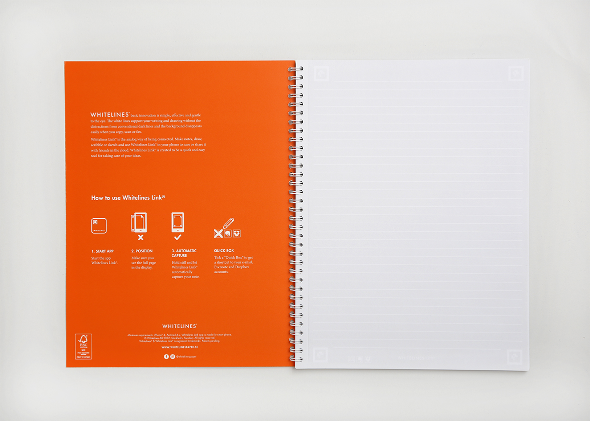 whitelines a4 lined notebook