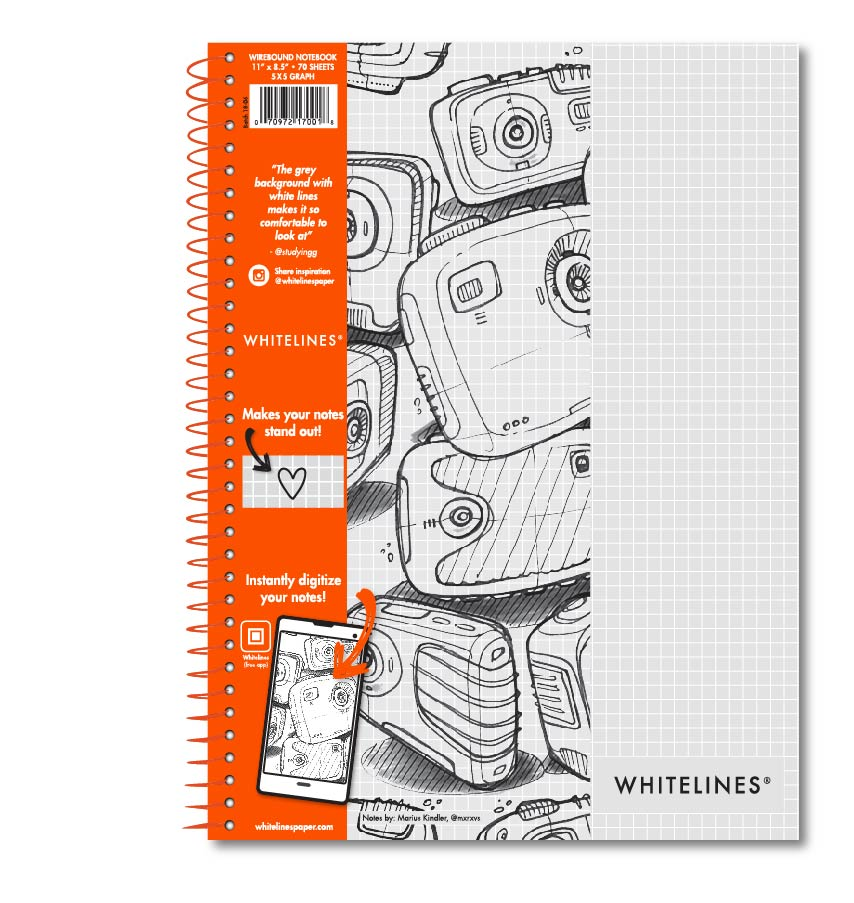 "Wire bound Notebook 11""x8.5"" Graph 17001"